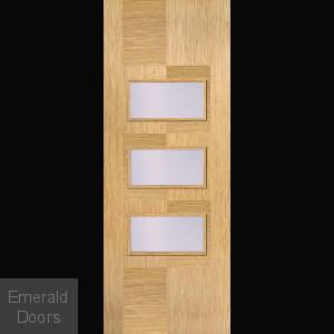 Apollo Oak 3L Clear Glazed Door