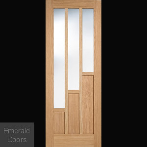 Oak Coventry 3L Glazed Internal Door Fully Finished