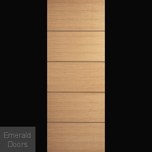 Santandor Oak Fire Door with Dark Grooves