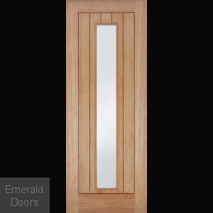 Somerset Oak Door with Clear Glass Fully Finished