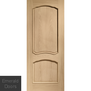 Louis Internal Oak Fire Door with Raised Mouldings