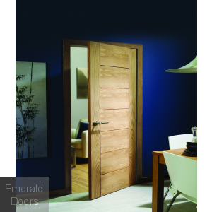 Palermo Pre-Finished Oak Door In Roomset