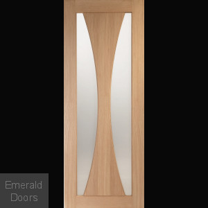 Verona Oak Clear Glazed Fire Door