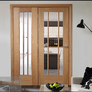 Oak Worcester Single Door Room Divider with Side Panel