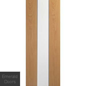 Pescara Oak with White Panel Fire Door