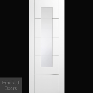 Portici White Glazed Door with Aluminium Inlays