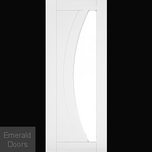 Ravello Clear Glazed White Interior Door