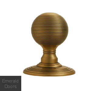 Reeded Knob on Rose