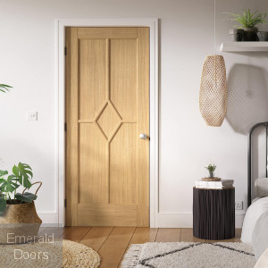 Oak Reims 5 Panel Internal Door Fully Finished