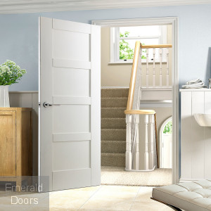 White Shaker 4 Panel Internal Door