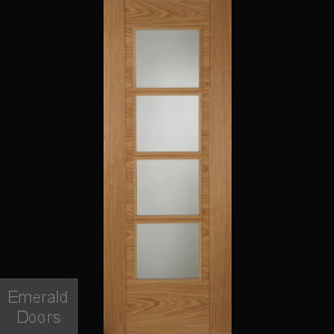 Contemporary Oak 6500 4L Fire Door