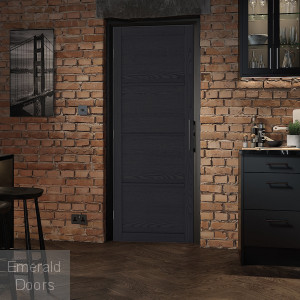Charcoal Soho 4 Panel Internal Door