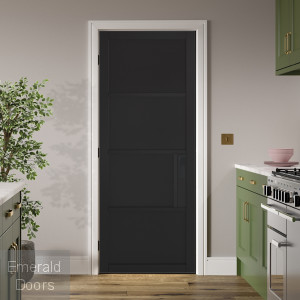 Black Chelsea 4 Panel Internal Door
