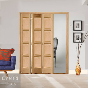 3 Leaf Oak Bardsley 4 Panel Bi-Folding Set