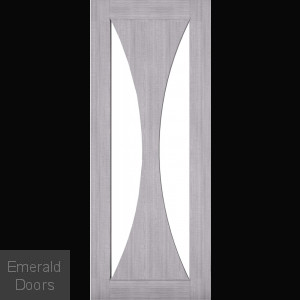 Sorrento Clear Glazed Grey Interior Door
