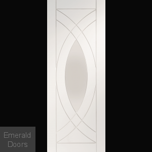 Treviso Glazed White Primed Door