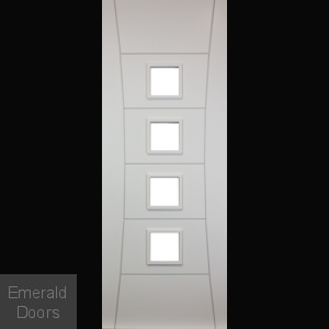 Pamplona White Unglazed Fire Door