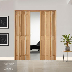 6 Leaf Oak Victorian 2 Panel Bi-Folding Set