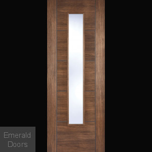 Vancouver Walnut Glazed Laminate Door