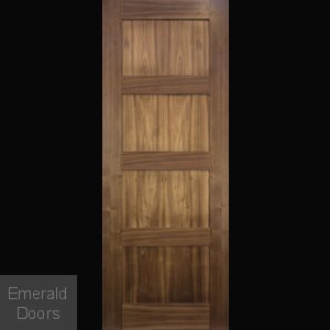 Walnut Shaker Internal Door Fully Finished