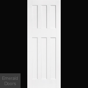 White DX60 6 Panel Fire Door
