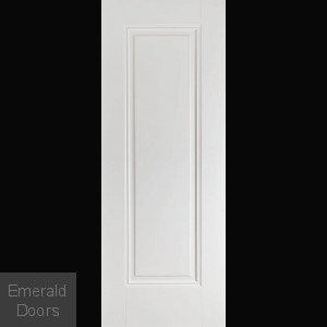 Eindhoven 1 Panel White Primed Fire Door