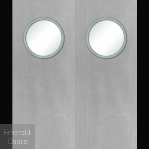 Custom Made White Porthole Fire Door Pair