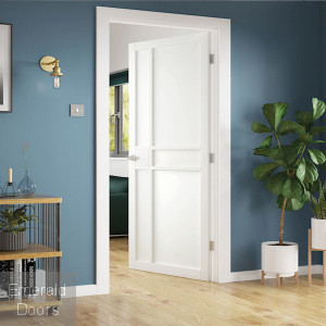 City White Industrial Style Door Fully Finished