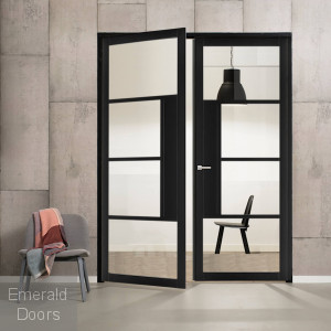 Industrial Style WK1136C Custom Made French Doors