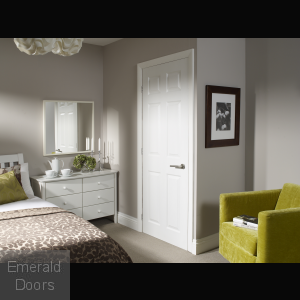 Colonist 6 Panel Internal White Moulded Fire Door In Situ Image