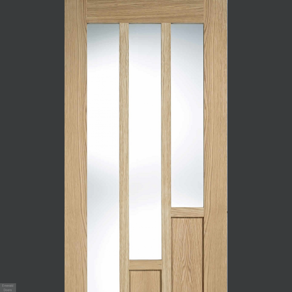 Buy Oak Coventry French Doors With Clear Glass Emerald Doors