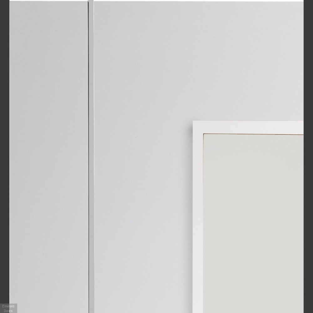 Buy Forli White Door With Clear Glass Emerald Doors
