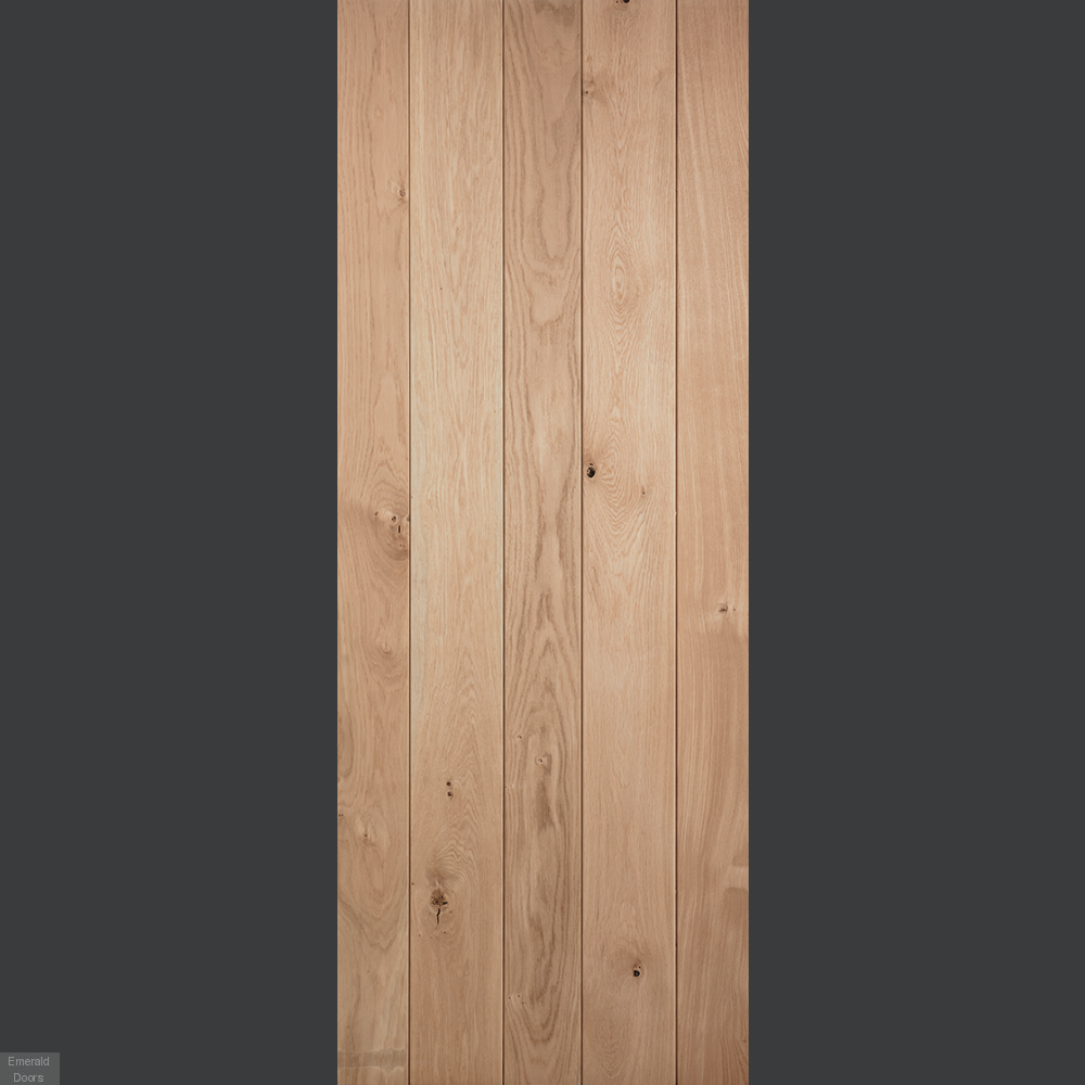 Buy Solid Oak Ledged Internal Door Emerald Doors