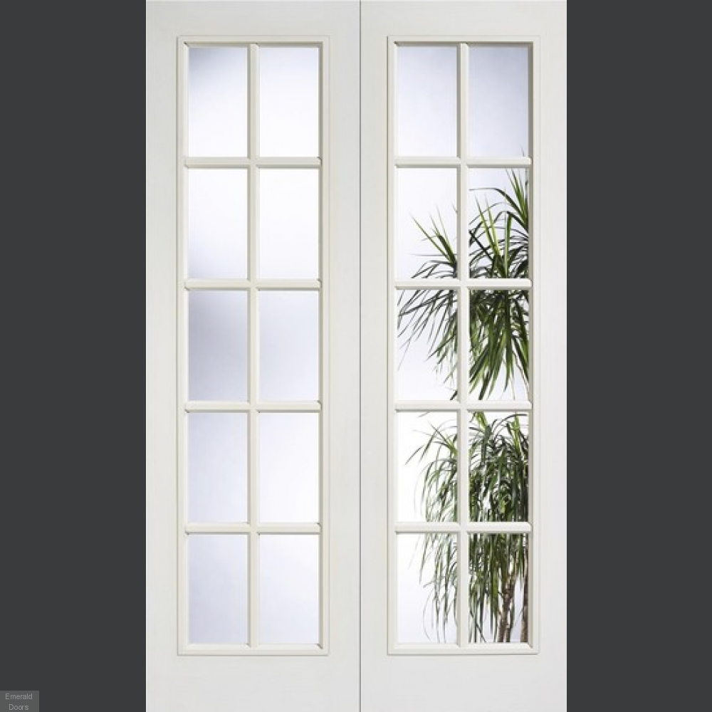 Buy White Moulded 10 Light Internal French Doors Emerald