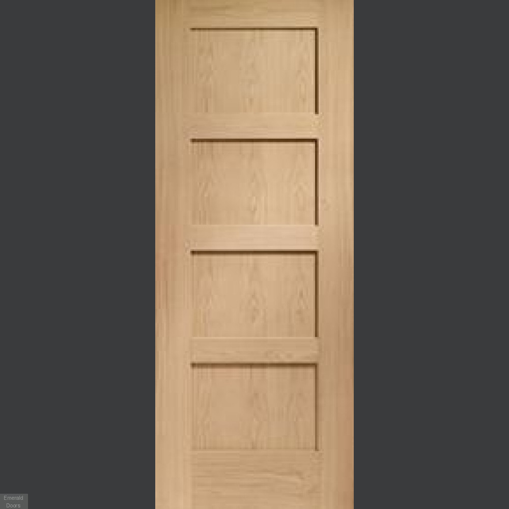 Internal Door Hinges >> Shaker Oak 4 Panel Double Pocket Doors | Sliding Pocket Doors | Oak Pocket Doors