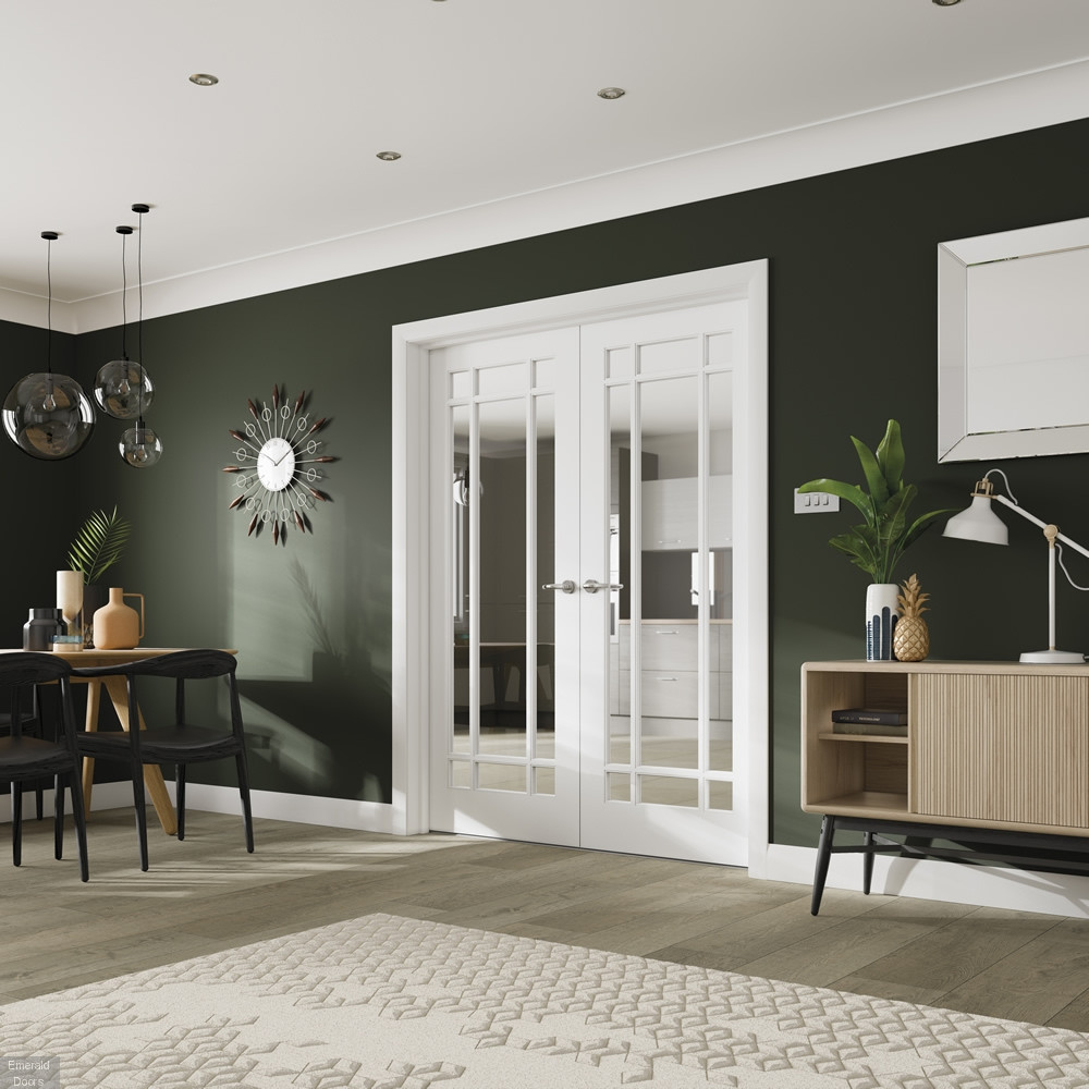 Buy Custom Made Cheshire 9 Light French Doors With Clear