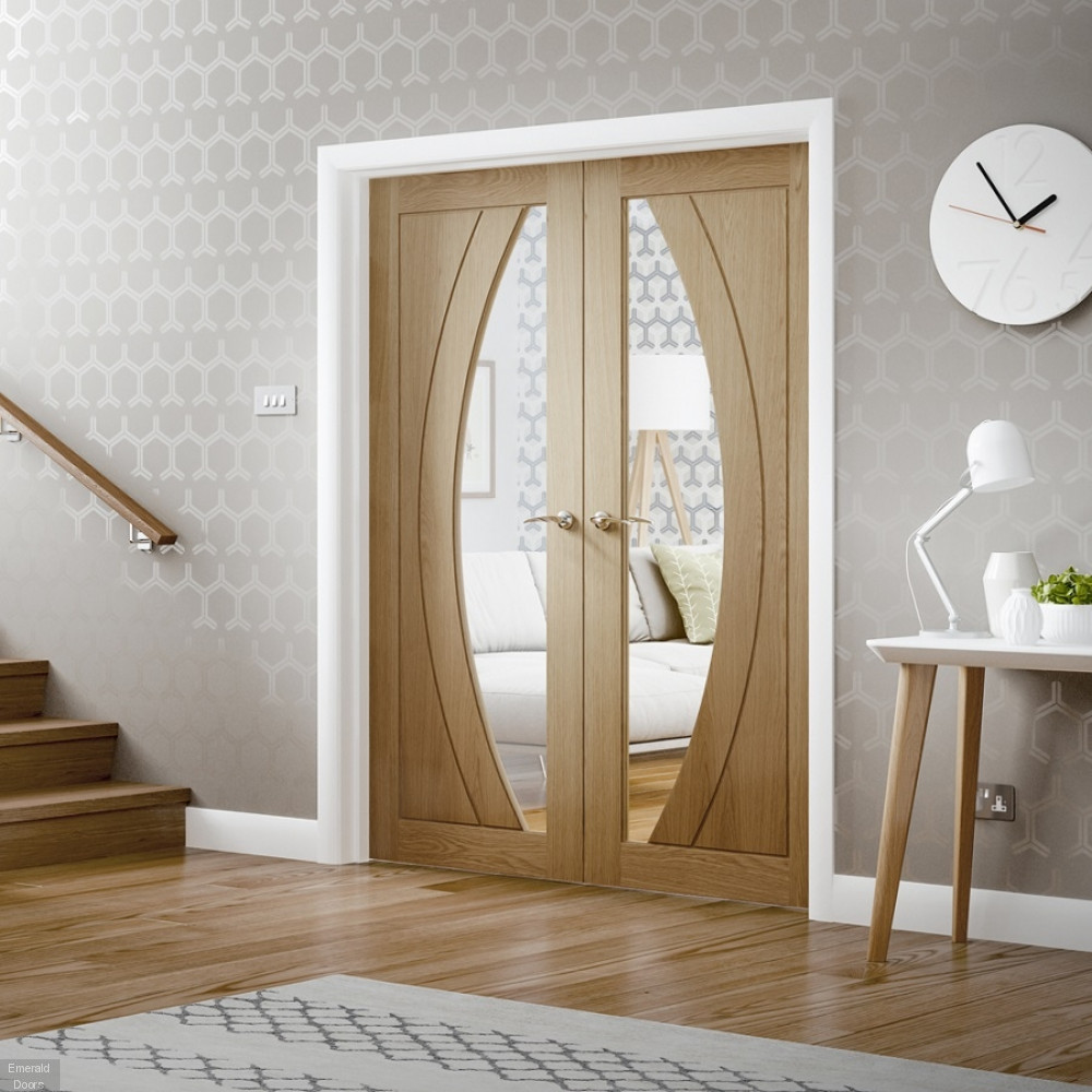 Buy Oak Salerno Glazed French Doors Emerald Doors