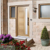 Modena Oak 1 Light External Door
