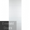 Contemporary 7500 White Fire Door