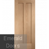 Contemporary Oak Novara Fire Door
