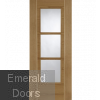 Contemporary Oak Mirage Glazed Fire Door