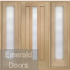 Padova Oak Grand Entrance with Sidelights
