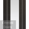 Forli Dark Grey Internal Door with Clear Glass Small Image
