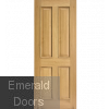 Oak Regency 4 Panel Fire Door RM