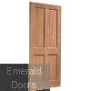 London Hardwood External Door Skewed Image
