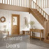 Calabria Oak Door with Clear Glass
