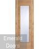 Corsica Oak 1 Light Glazed Door