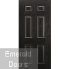 GRP 6 Panel Black and White Composite External Door