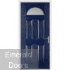 Gloucester Blue External Glazed Fire Doorset