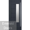 GRP Glazed Newbury Grey Composite Grand Entrance Doors